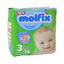 مولفیکس پوشک بچه ۱۴عددی سایز ۳