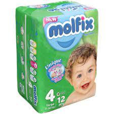 مولفیکس پوشک بچه ۱۲عددی سایز ۴