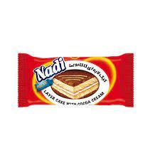 نادی کیک الیه ای اسفنجی با کرم کاکائو ۴۵ گرم
