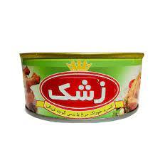 زشک کنسرو خوراک مرغ باسس گوجه فرنگي