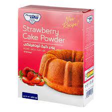 پگاه پودر کیک توت فرنگی نیمه اماده۵۰۰ گر