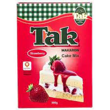 تک ماکارون پودر کیک توت فرنگی۵۰۰ گرم