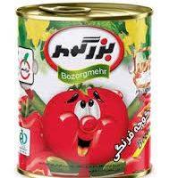 بزرگمهر رب گوجه فرنگي قوطي750 گرم